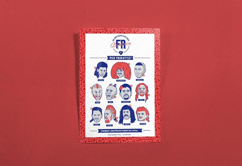 Football Retro Barber Shop |  Art Print