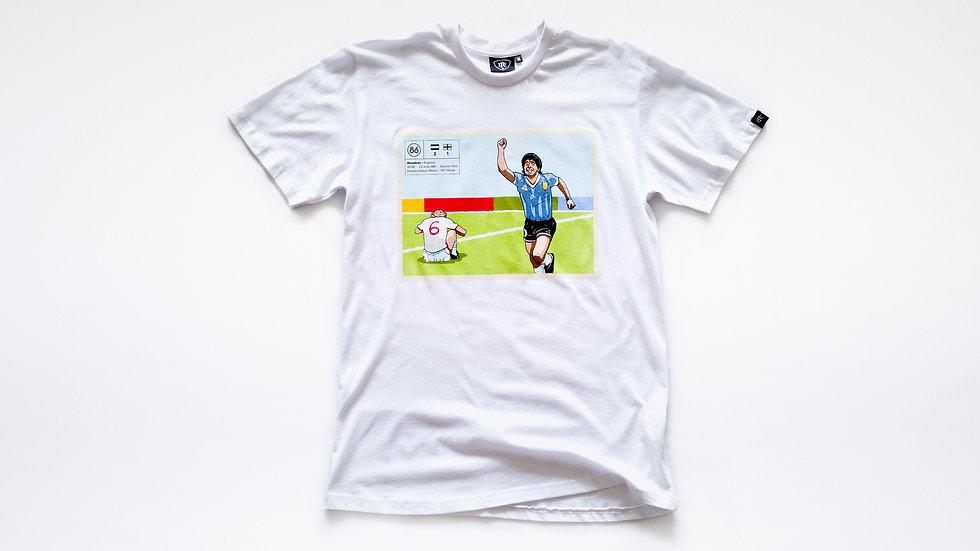 Maradona vs England Retro Football Tee  |  1986