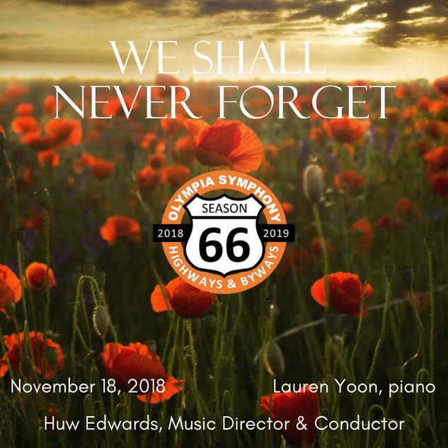 """We Shall Never Forget"" | November 18, 2018"