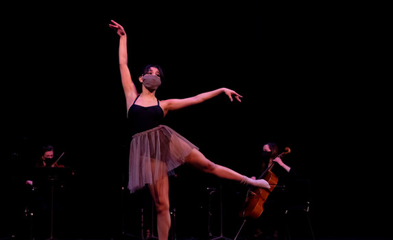 Ballet Northwest & Olympia Symphony Collaboration: Reverie (Debussy)  Photo Credit: Ballet Northwest / Julie Alonso; Washington Center for the Performing Arts