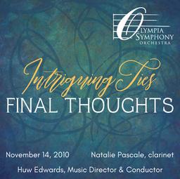 """Final Thoughts""   November 14, 2010"
