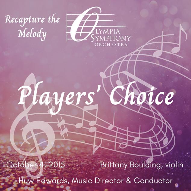 """Players' Choice"" | October 4, 2015"