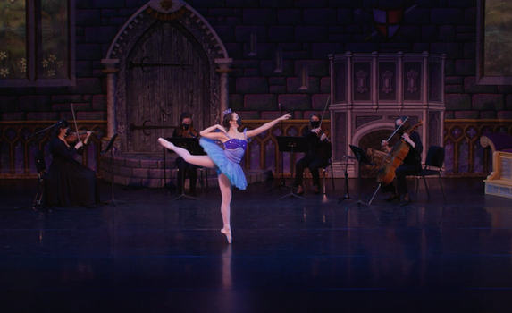 Ballet Northwest & Olympia Symphony Collaboration: Princess Florine Variation, from The Sleeping Beauty (Tchaikovsky)  Video Still Credit: Ballet Northwest / Sky Bear Media; Washington Center for the Performing Arts