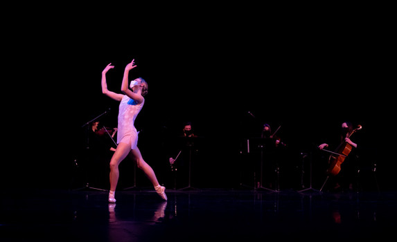 Ballet Northwest & Olympia Symphony Collaboration: Clair de Lune (Debussy)  Photo Credit: Ballet Northwest / Julie Alonso; Washington Center for the Performing Arts