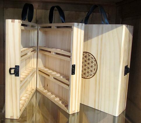 Maleta de madera para set