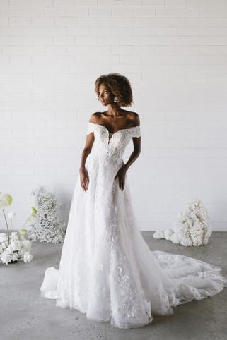 Off the Shoulder Wedding Dresses | Bridal Shop | San Antonio TX | Bridla Galleria of Texas