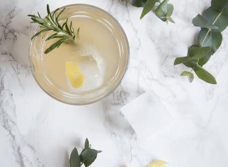 Vintercocktail - gin & ginger kombucha