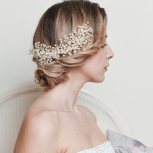 Pearl Cluster hair comb