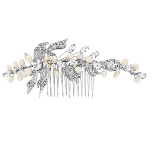 Crystal and Pearl Comb