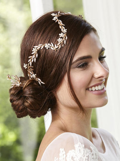 Gold Hair vine with 3 Matching Hairpins