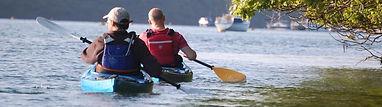 kayak on the river fowey