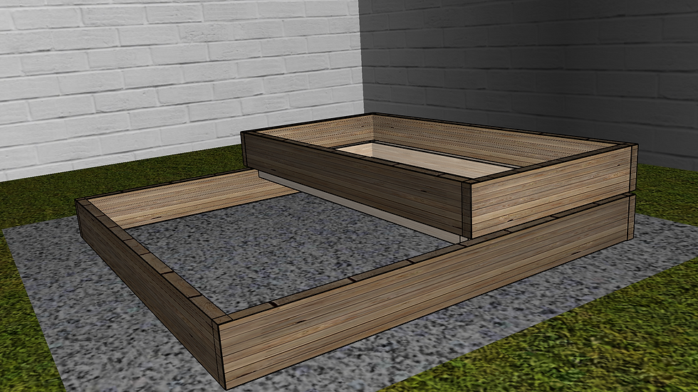 4ft x 4ft Tiered Original Raised Bed