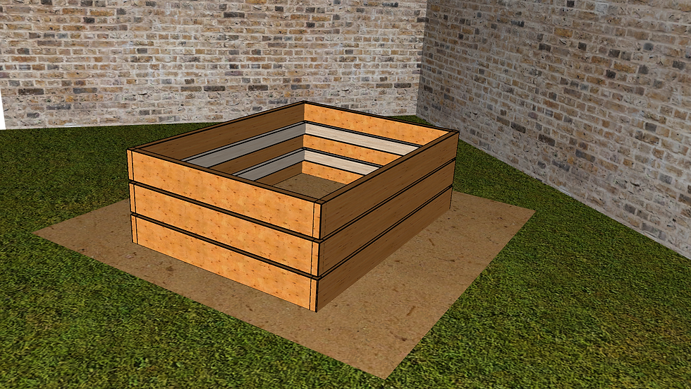 3ft x 4ft - Raised Deep Bed