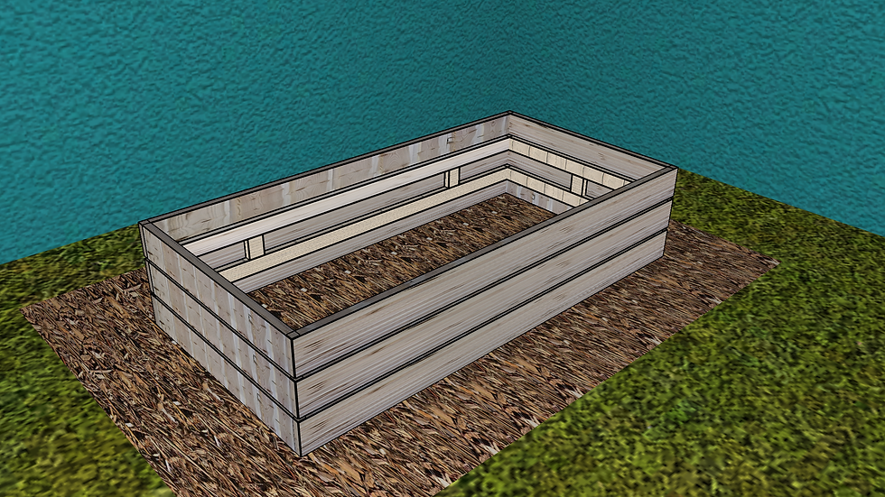 3ft x 6ft Deep Raised Bed