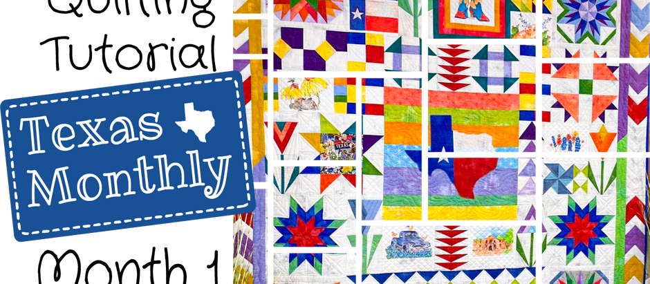 """From Happy Quilting: Tutorial for Block One of """"Texas Monthly."""""""