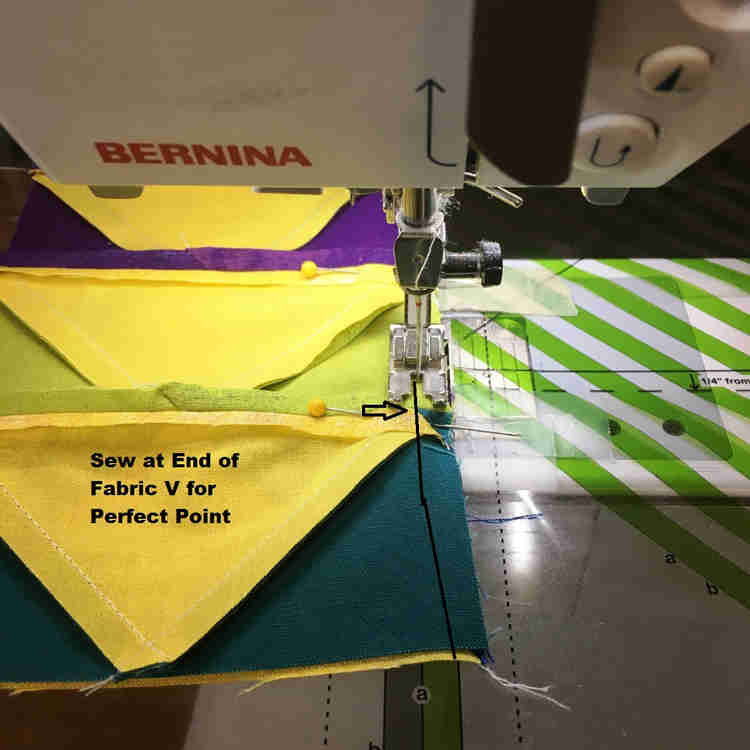 flying geese blocks coming together