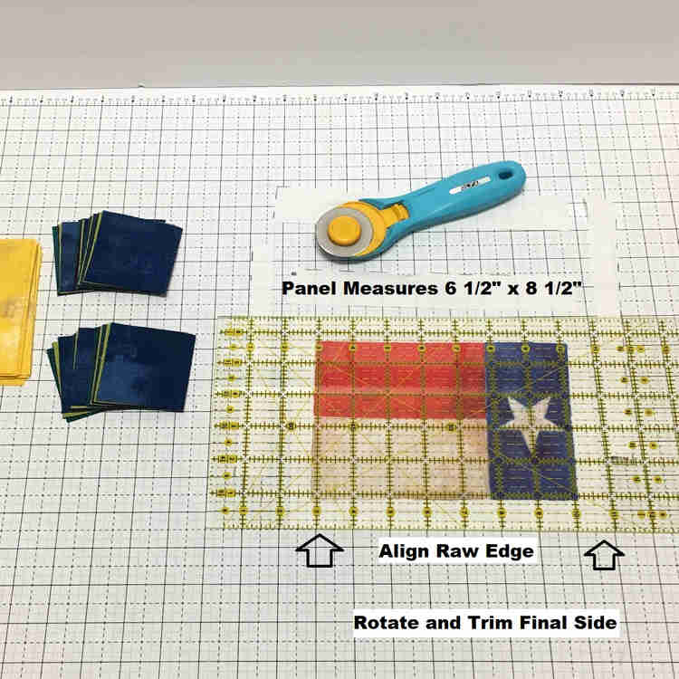 texas flying geese panels measurements labeled and laid out
