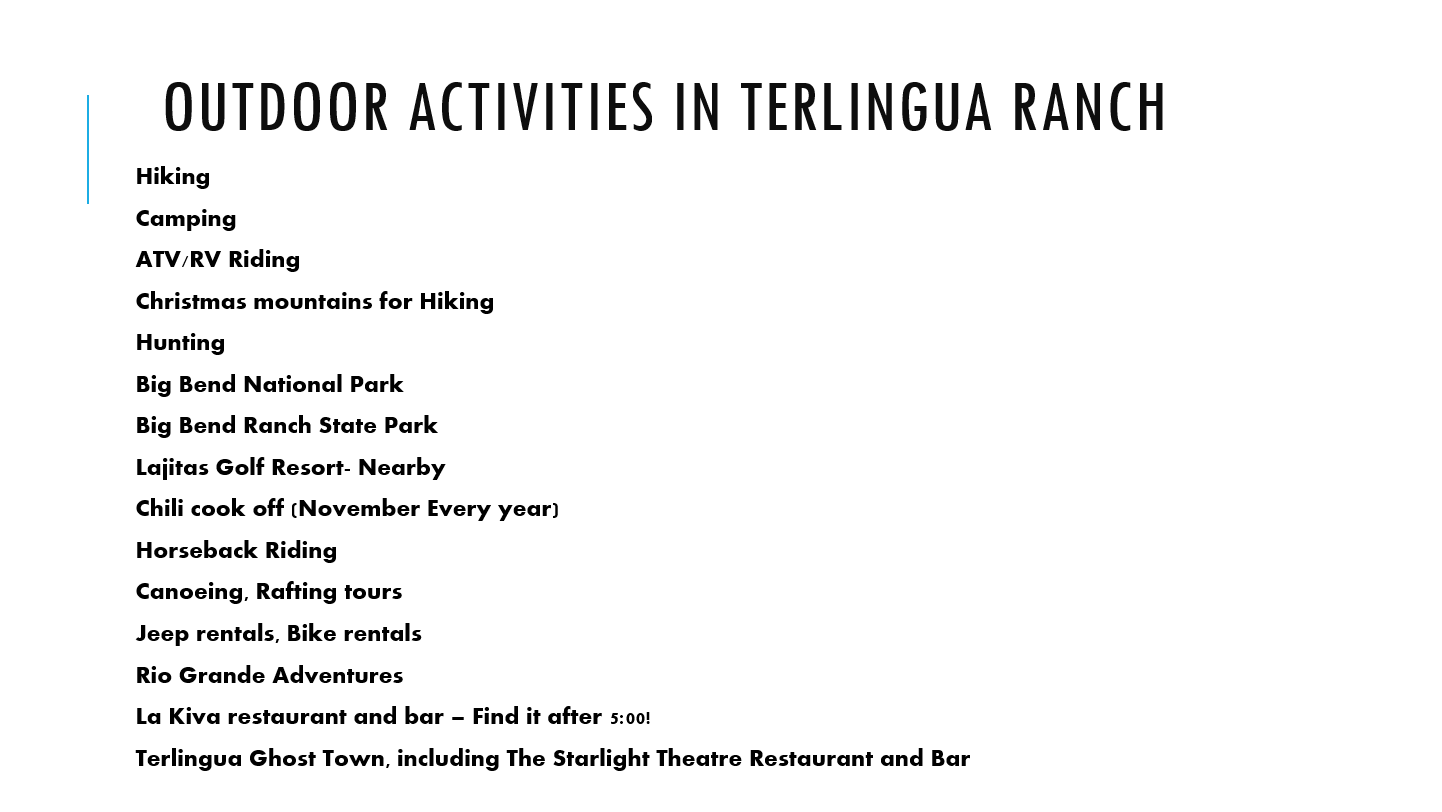 Things to do in Terlingua TX