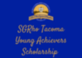 SGRho Tacoma Young Achievers Scholarship