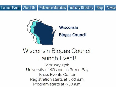 ETI to be on WI Biogas Council's Panel Discussion Launch Event