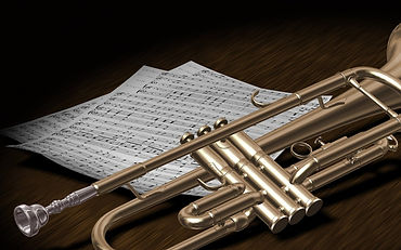 Trumpet and music scores