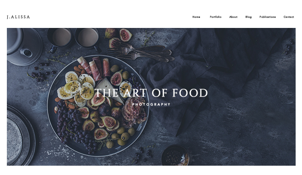 Photography website templates – Food Photographer