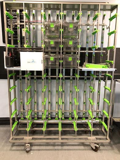 Techniplast Greenline rack with AA insta