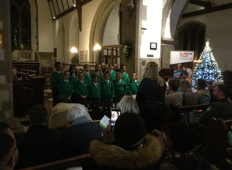Junior Choir perform at St Nicholas Church for the Rainbow Trust
