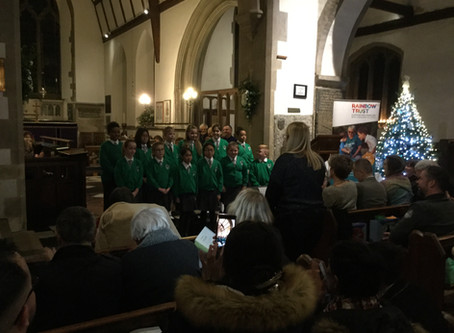 Junior Choir perform at St Nicholas Church for the Rainbow Trust