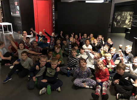 Year 5 pupils ready for a starry night at The Science Museum