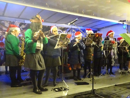 Concert Band perform at the Spirit of Christmas in Epsom high street