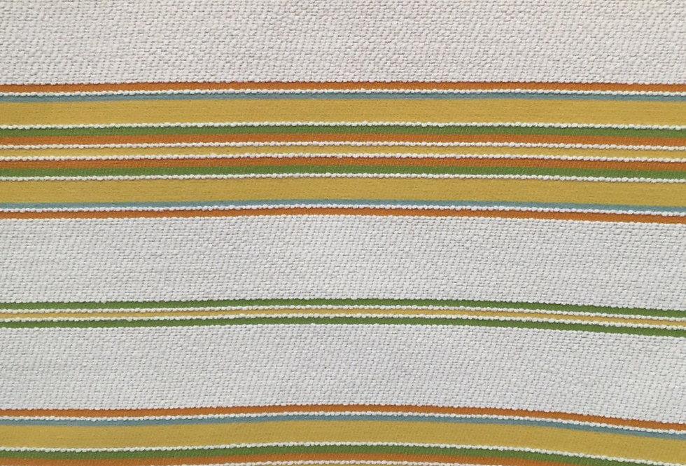 Terrycloth Feel Textured Stripe - Green Yellow Stripe