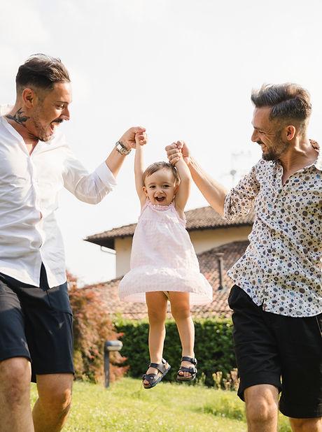 Gay par med deres datter
