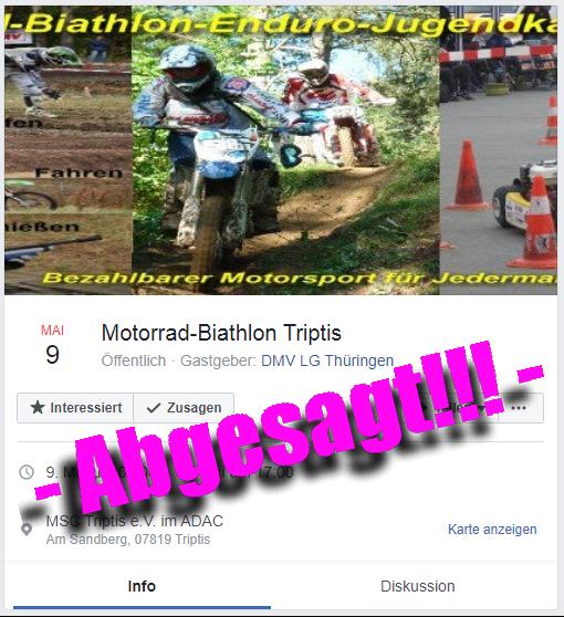 Absage Veranstaltung MB Triptis