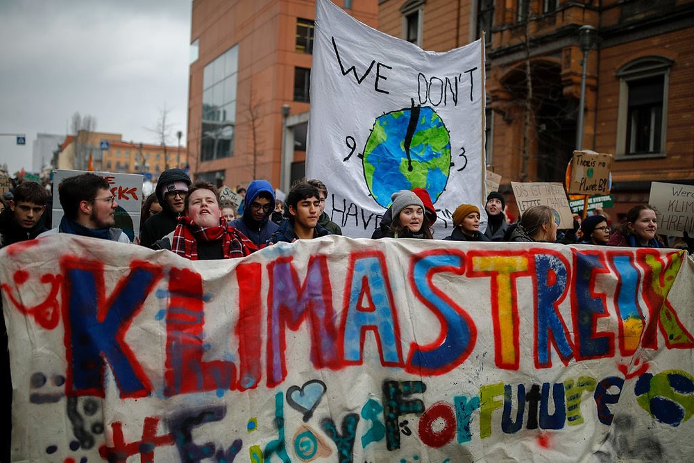Teenagers going on strike in Belgium.