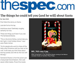 HAMILTON SPEC: The things he could tell you about Santa