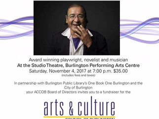 Tomson Highway Coming to B-town Nov 4