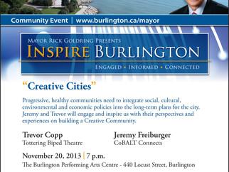 Trevor Copp speaks on 'Creative Cities' INSPIRE series