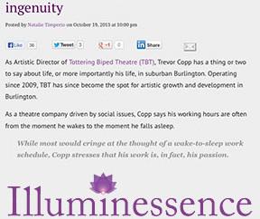 ILLUMINESSENCE: Trevor Copp tackles inequity...