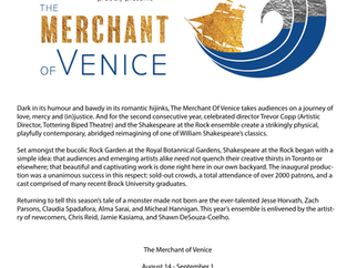'The Merchant of Venice' Launches