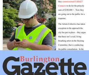 BURLINGTON GAZETTE: Artists want a storm...
