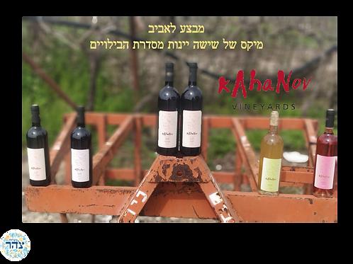 מארז 6 יינות מסדרת הבילויים
