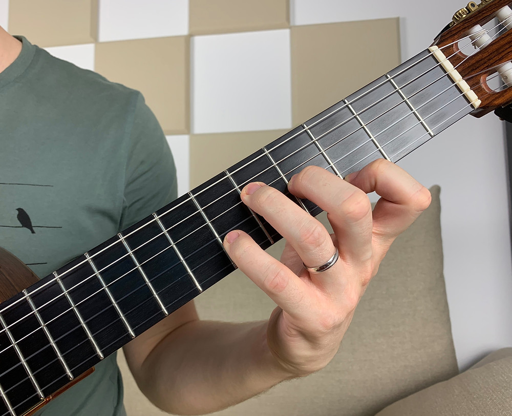 G7 chord, omit 5 voicing