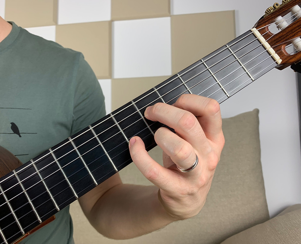 G7 chord, omit 5 voicing, tension 9