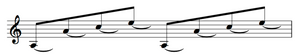 A wrong way to notate sustained notes for the guitar