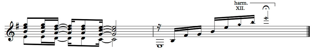 Correct notation of the final chord arpeggio
