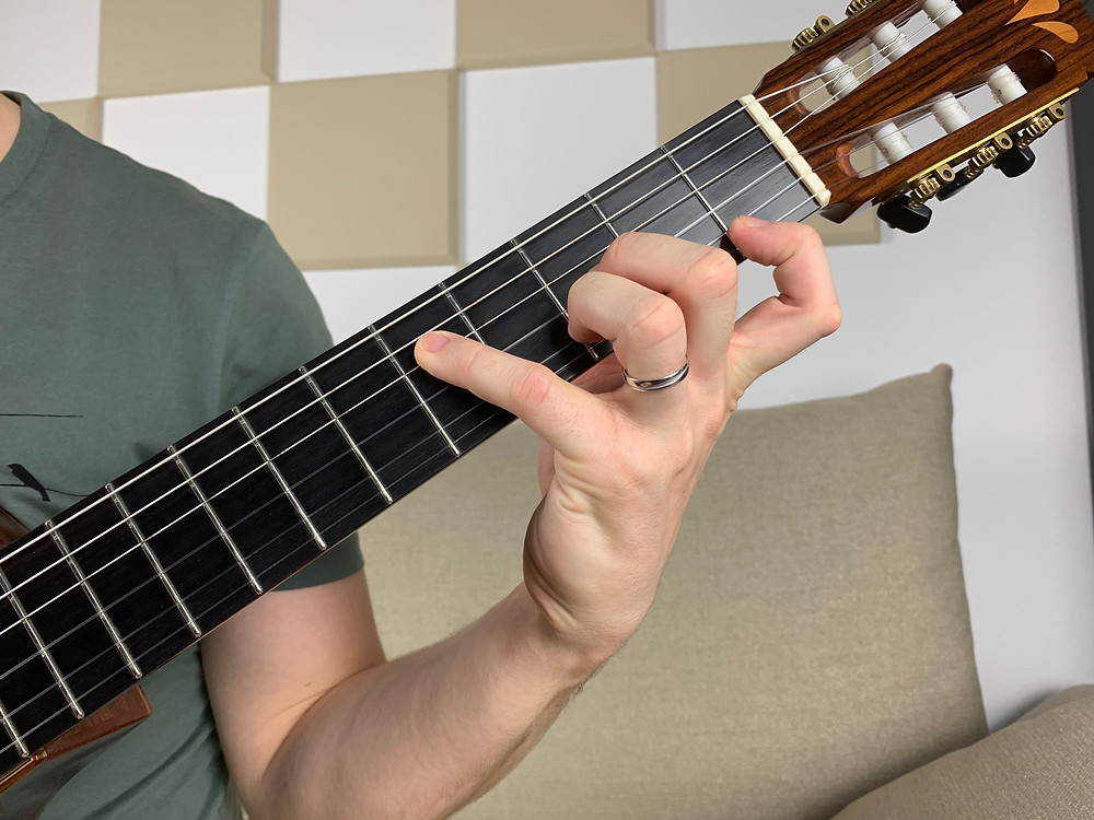 G minor 7 chord in close position