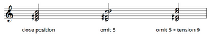 Omit 5 voicings