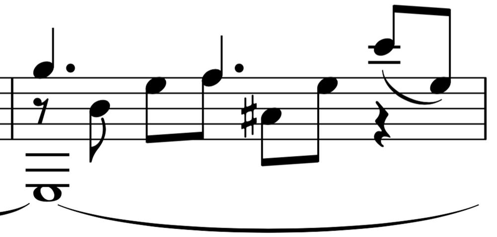 Legato - large interval