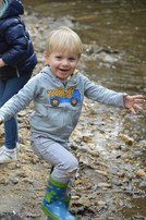 Playing in a creek